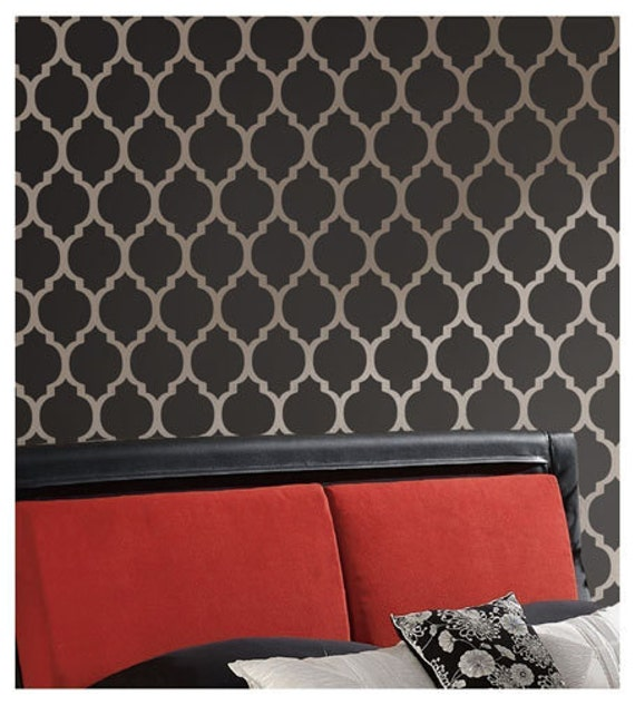Wallpaper Wall Stencils : Wall stencil casablanca reusable stencils for diy decor