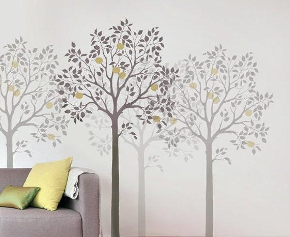 Schablone Wand Baum Große Frucht Baum Schablone
