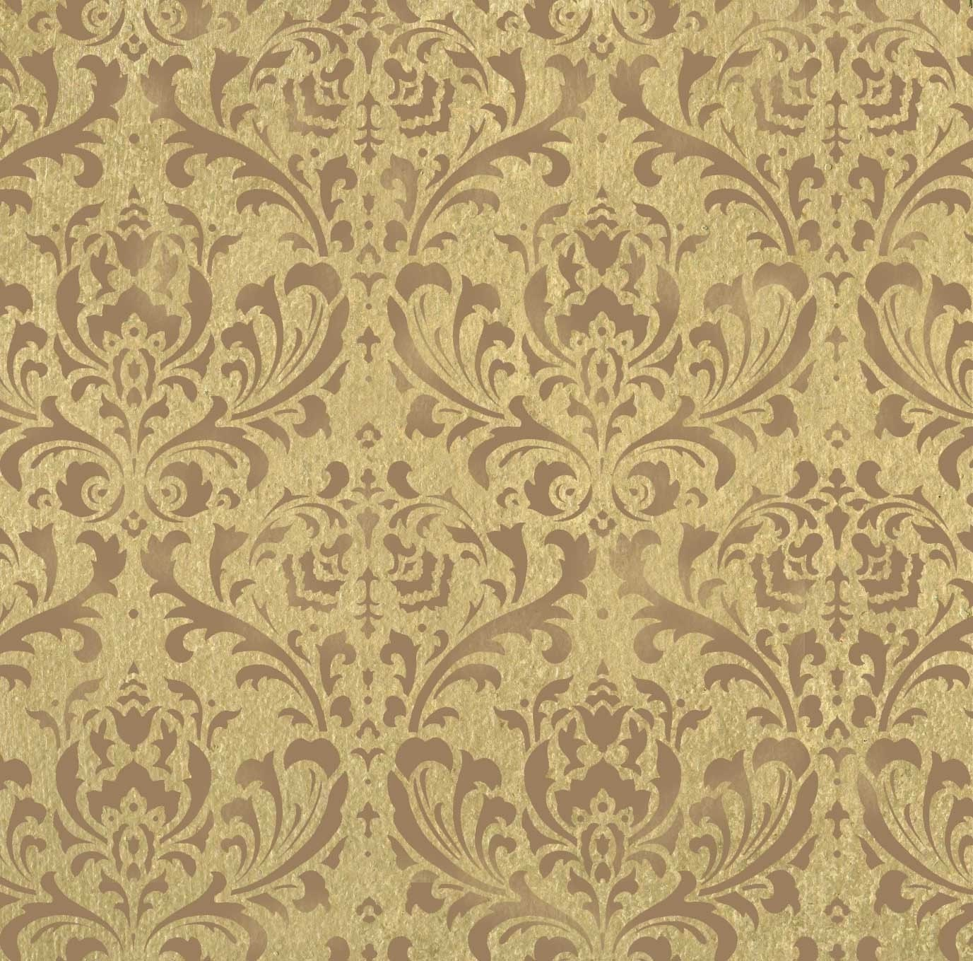 Wallpaper Wall Stencils : Wall stencil damask brocade pattern by