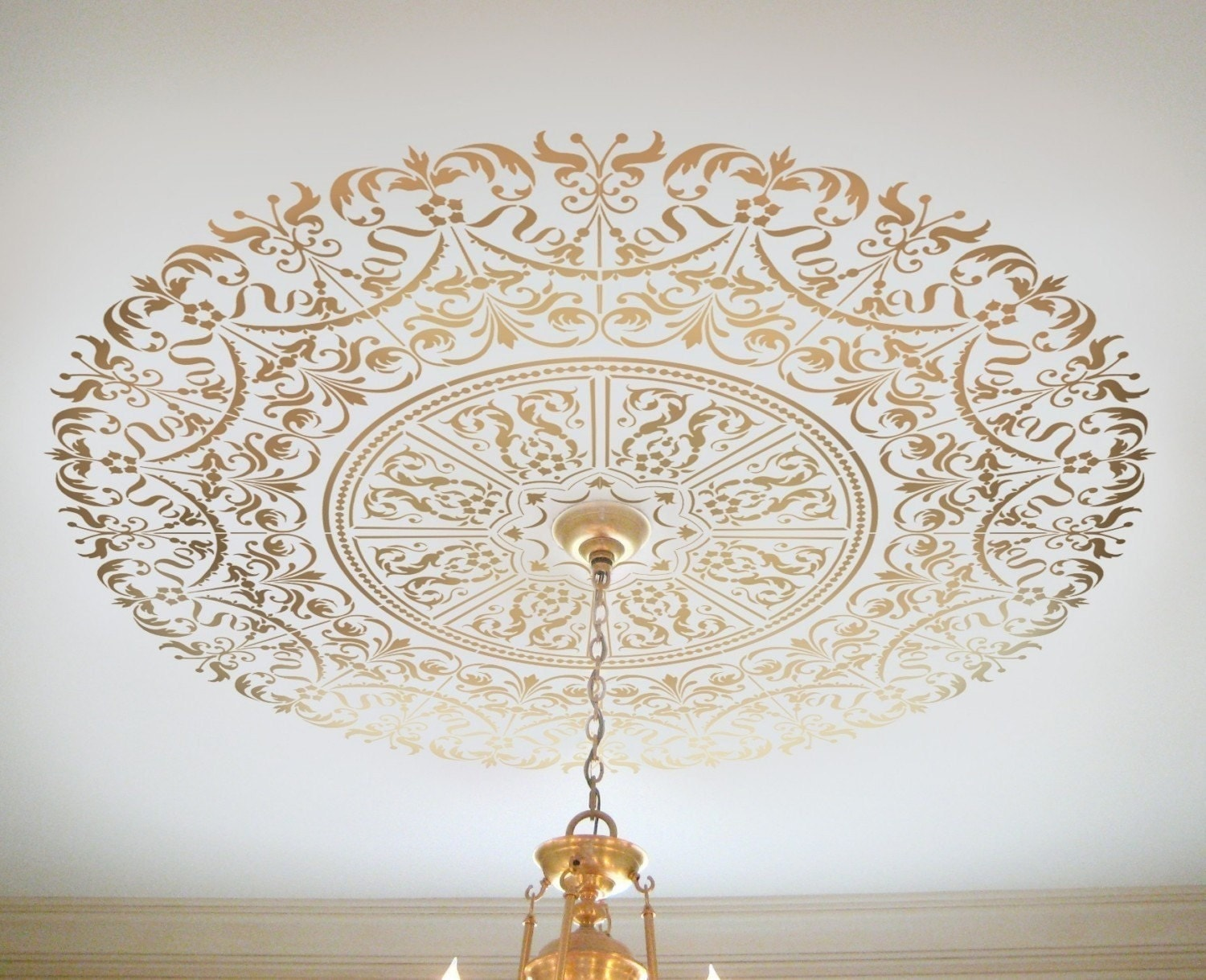 Decorative stencil georgian ceiling medallion wall and zoom arubaitofo Images
