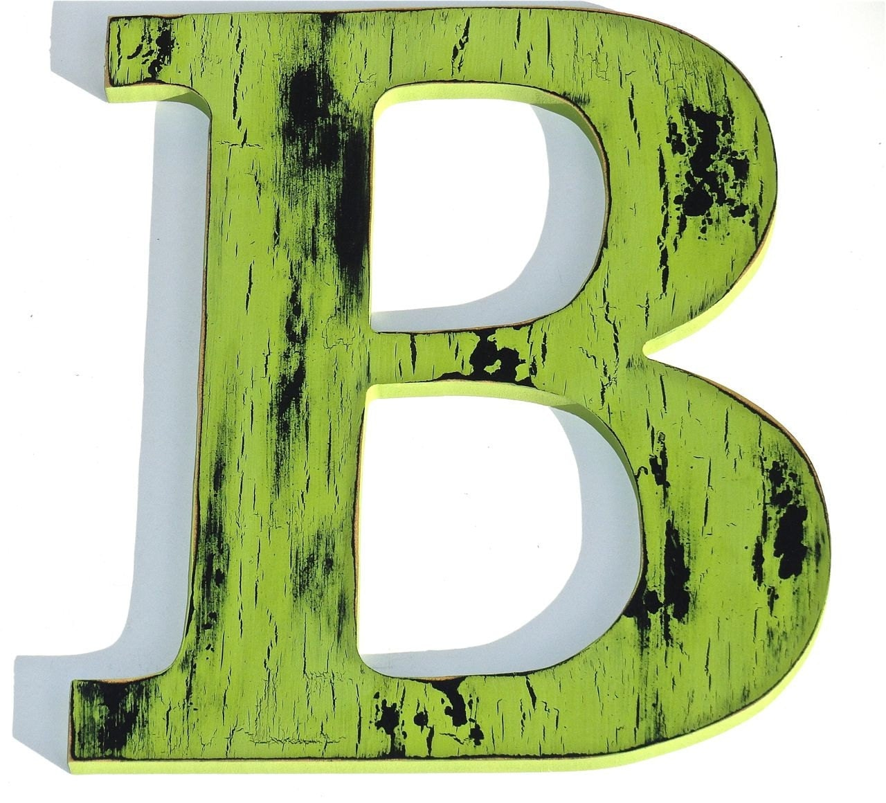Wall Decor Letter B : Wall decor wooden letter b in green by holesinthewood on etsy