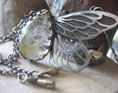 Golden Rutilated Quartz Wings Necklace