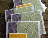 Heavily Embossed Note Card Set
