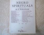Vintage  Music Sheet Music 1927 Negro Spirituals Music Sheet Black Memorabilia