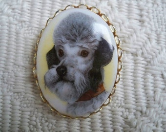 Vintage Jewelry Collectible Poodle Brooch Dog Lover Pin