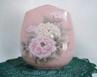 Vintage Home Decor Victorian Peony Vase Toyo Japan