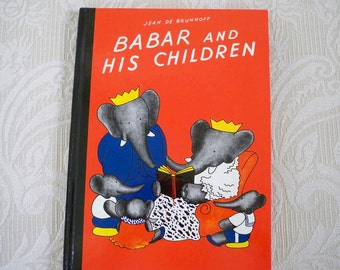 Babar and His Children  Vintage  Book 1966 Children's Classic Children's Book