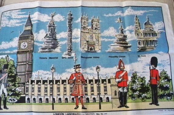 London Landmarks Linen Tea Towel
