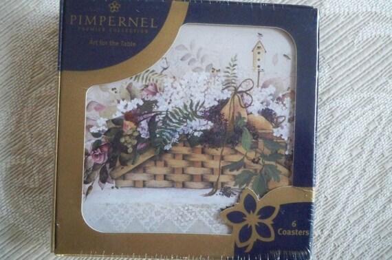 Vintage Pimpernel Coasters Set of 6 Unopened Box