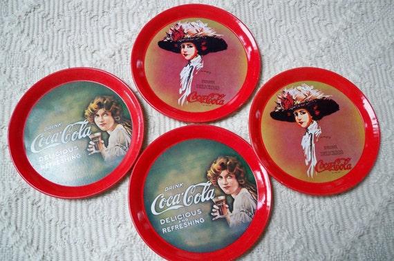 Vintage Set of Four Coca Cola Coasters