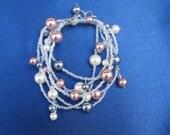 Double Wrap Pearl Bracelet - FREE SHIPPING