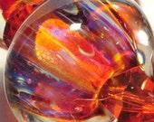 LampWork Glass Beads HandMade Boro By Brenda Scata set of 7 beads BLUSHING SUNRISE