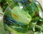 Handmade Glass Lampwork Bead-Glass Beads-Boro Beads-By Brenda Scata-7 beads-EDENS GARDEN