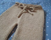 Hand Knit Drawstring Pants
