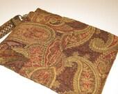 iPad Case, iPad Sleeve, iPad Cover, Detachable Strap Paisley Gorgeous Upholstery Fabric