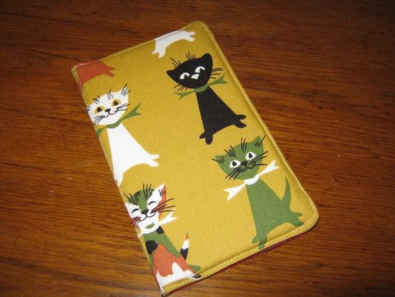 Kindle Cover Hardcover Kindle Case Cover Nook Cover Custom eReader Cover Happy Cats