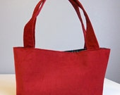 Dowanhill Satchel Handbag in Red Corduroy