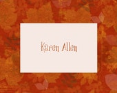 Personalized Autumn Notecards