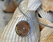 Recycled Wine Cork Pendant and Neckwire - great gift for wine lover