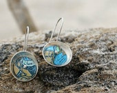 Recycled Soda Can Earrings - Give Peace a Chance