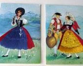 RSVD. Embroidered postcard set (2)