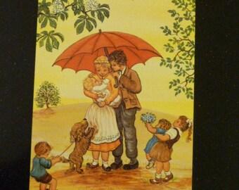 Vintage art postcard
