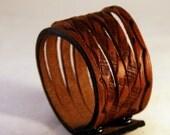 Brown Leather Cuff Wristband Men's Jewelry
