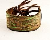 Pastel Green Jewelry Cuff Bracelet OOAK
