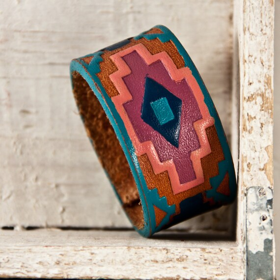Christmas Gift Guide Tribal Native Jewelry Cuffs Leather Wristbands  Handmade Holiday Sale