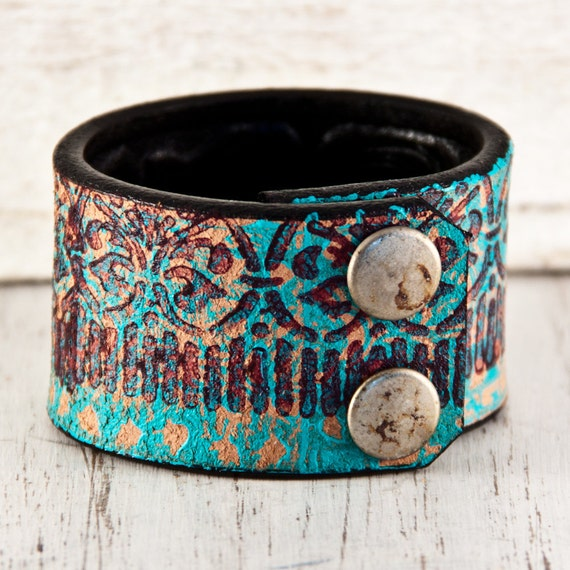 Turquoise Jewelry Unique Bracelet Cuff Extra Small