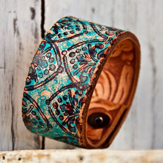 Turquoise Jewelry Cuff Bracelet Unique Gift