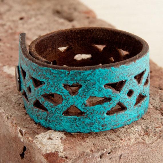 Turqouise Jewelry Winter  Fashion Leather Cuffs