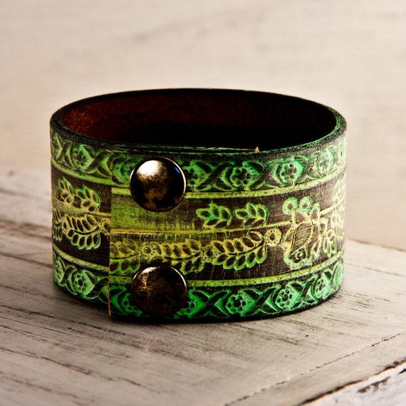 Sale Leather Jewelry Cuff Handmade  Sale