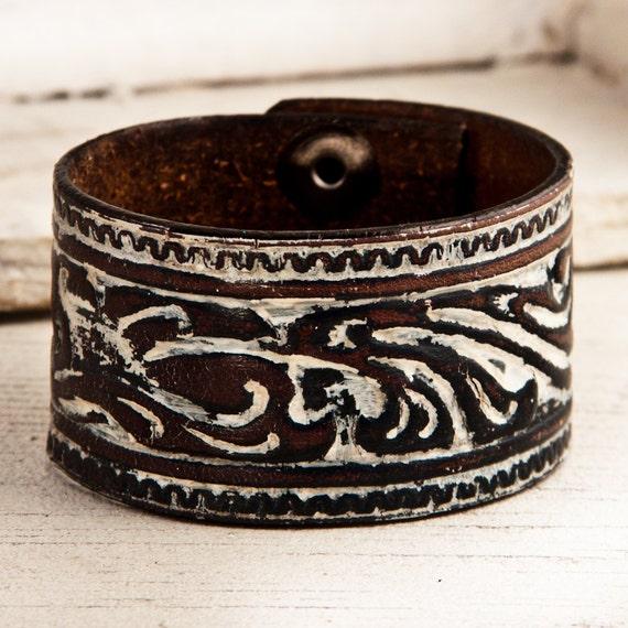 Leather Bracelets for Womens Ooak Jewelry