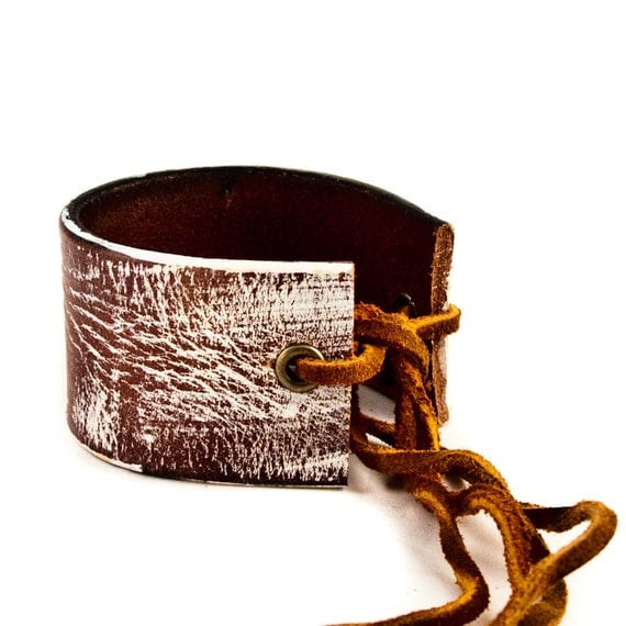 Unique Leather Cuffs for Women OOAK