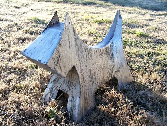 Scottie schnauzer sculpture - Dog sculpture - Metal schnauzer art - K9-Steel dog art - Dog memorial - Amazing dog art - Silver shinny art