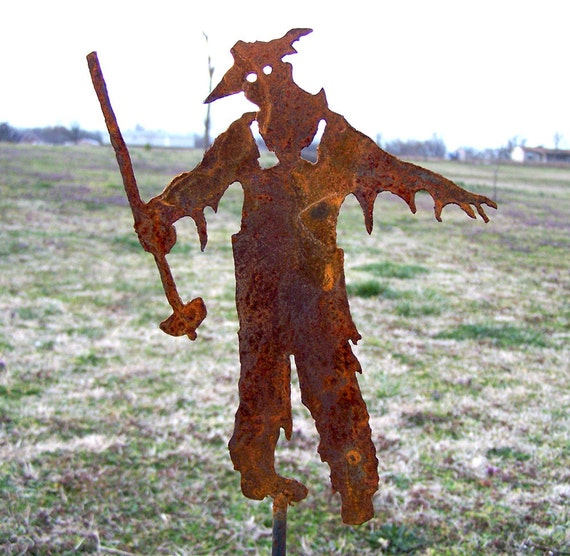 Zombie Farmer Stake Undead Ghoul Yard Invasion of the Walking Dead Decoration FREE SHIPPING
