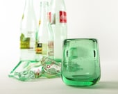 Shot Glass Recycled Blown Bottle Glass ECO