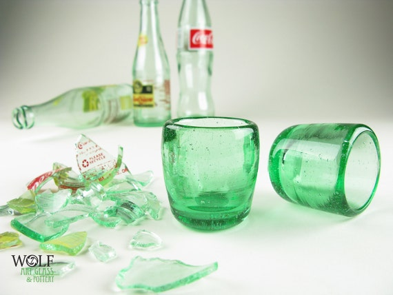 Shot Glass ECO Blown Recycled Bottle Glass Fathers Day Gift
