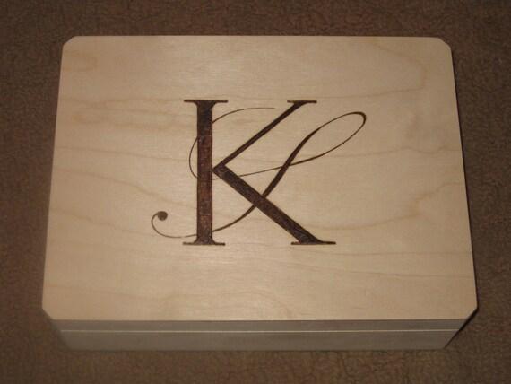 Wood Burned Memory Box - Cornice Box