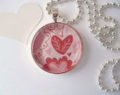 Heart Pendant with Silver Plated Chain