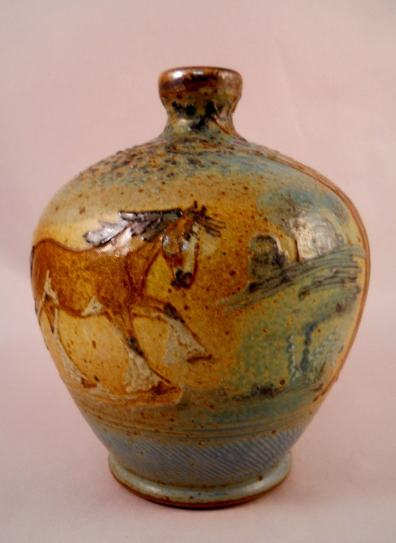 Clydesdale Draft Horses - Bulbous Vase