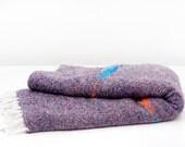 Vintage Southwestern-Inspired Wool Blanket