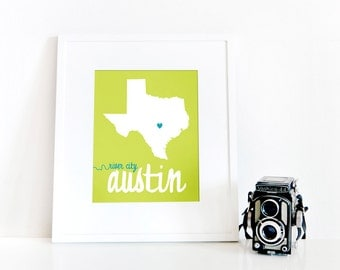Austin, River City // 8x10 Digital Texas Print