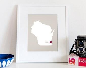 Milwaukee is My Home // 8x10 Digital Wisconsin Print