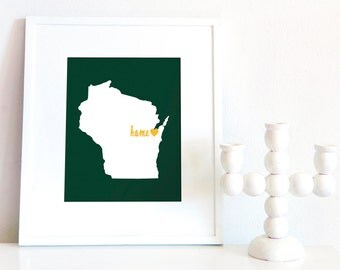 Green Bay is My Home // 8x10 Digital Wisconsin Print