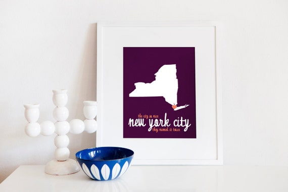 NYC - The City So Nice They Named it Twice // New York City / 8x10 Digital Print