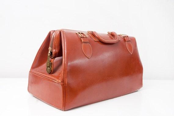 Vintage Leather Doctor Bag / Weekender Bag