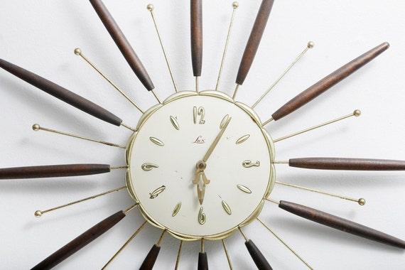 1963 Lux Atomic Wall Clock