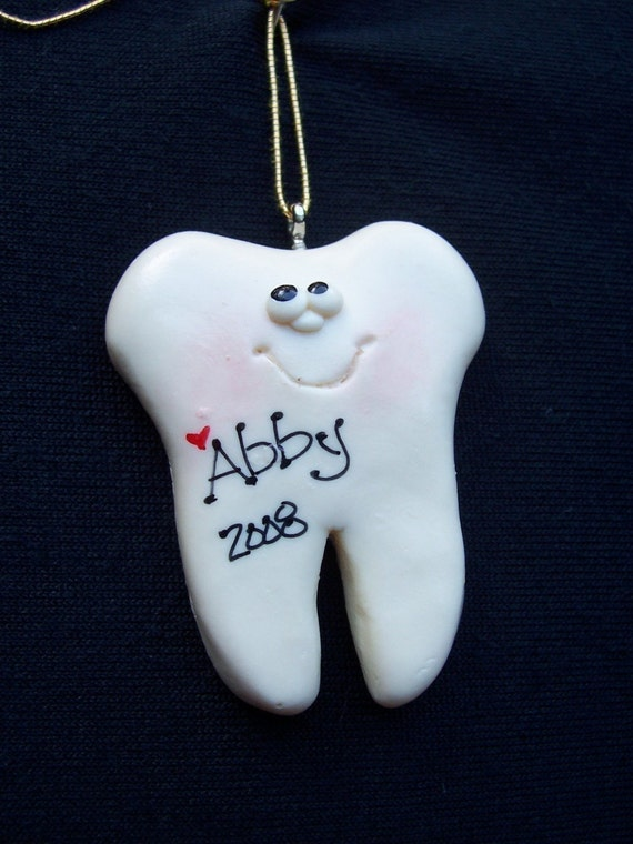 Personalized Tooth Ornament